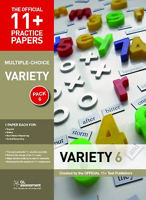 11+ Practice Papers, Variety Pack 6 (Multiple Choice): English Test 6, Maths Tes