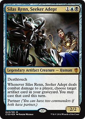 Magic The Gathering Commander 2016 Silas Renn Seeker Adept FOIL x1