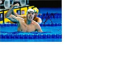 Olympic Silver 2016 Rio in Swimming Connor Jaeger original signed 10x15 photo.