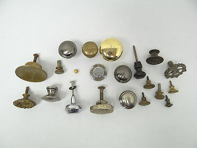 Antique & Vintage Used Old Mystery Metal Brass Drawer Pulls Hardware Round Knobs