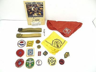 Boy Scouts of American Merit Badges Belts Patches Lot of Vintage Used 1960s BSA