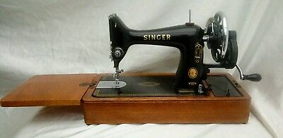 Vintage 1955 Singer Sewing Machine 99K Case Manual & Accessories Very Good Cond