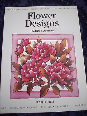 Flower Designs by Mandy Southan. Search Press BN Craft, silk painting, cards