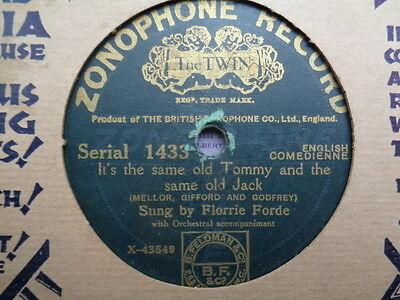 FLORRIE FORDE - It's The Same Old Tommy And The Same Old Jack 78 rpm disc