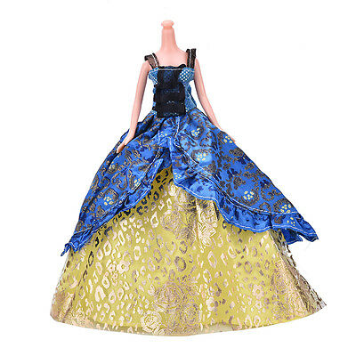 """Fashion Beautiful Handmade Party Clothes Dress for 9"""" Barbie Doll SN"""