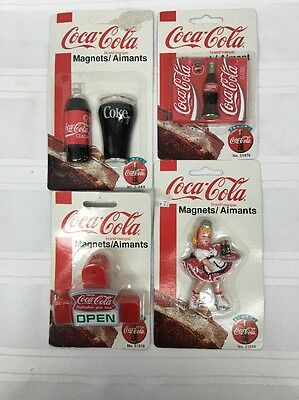 1997 ALWAYS COCA COLA REFRIGERATOR MAGNETS Mixed Lot Of 4