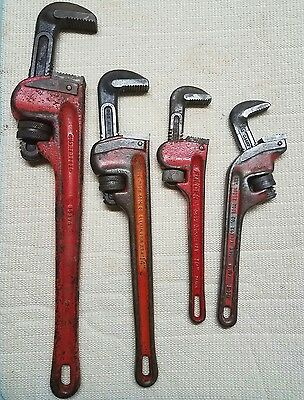 """Ridgid 14"""" & E10 Offset & 10"""" FULLER & 18 """" CRAFTSMAN PIPE WRENCHES Very Nice!!"""