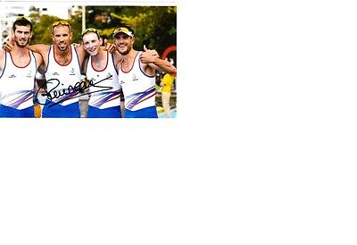 Olympic Bronze 2016 Rio in Rowing Guillaume Raineau original signed 10x15 photo.