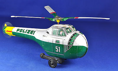 Blech / Tin Toy: Hubschauber / Helicopters, Polizei / Police, K, Japan, 1960...