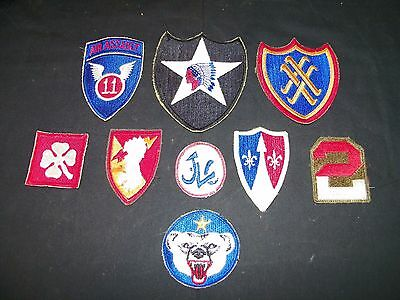 Lot Of 9 Vintage U S Army Military Patches Korean War Period