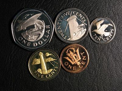 BARBADOS 1973 1-5-10-25 Cents/ 1 Dollar Proof - Lot of 5 Coins