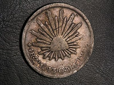 MEXICO 1843ZsOM 4 Reales Silver