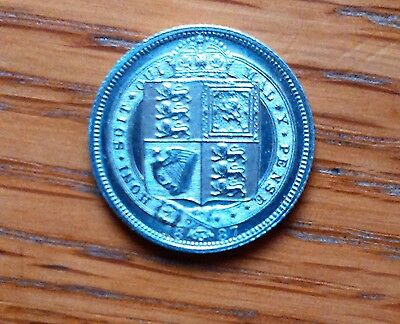 Victoria 1887 Sixpence. UNC , lovely coin