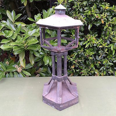 Antique Vintage  Victorian Gate Post Lamp Light - Bronze/brass - Restoration