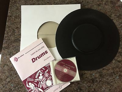 """Stagg Rubber 14"""" Drum Pad With Learning Book And CD"""