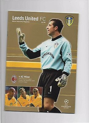 2000/01 Leeds United V Ac Milan (Champions League)