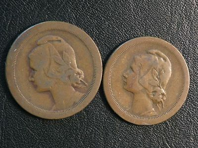 PORTUGAL 1925 10 - 20 Centavos Fine - Lot of 2 Coins