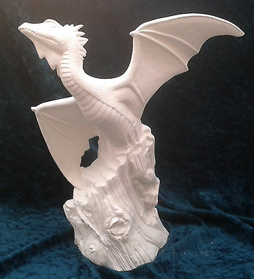 Paint Your Own Ceramic Bisque - Driftwood Flying Dragon