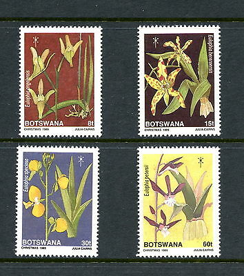 BOTSWANA, SC 464-467, 1989 Christmas, orchids, plants. Full set. MNH. CV 9.55