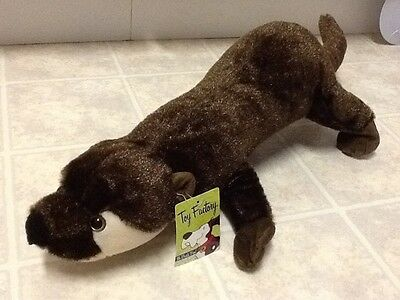 """Toy Factory BROWN OTTER 22"""" Stuffed Plush Animal Collectible Toy 2011"""