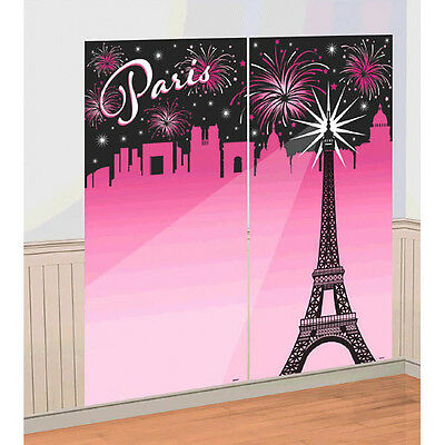 A Day in Paris Selfie Scene Setter Wall Decoration, Wedding Party Favor Supplies