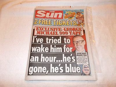The Sun UK Newspaper 11/02/2017 George Michael Death Issue Vicky Pattison