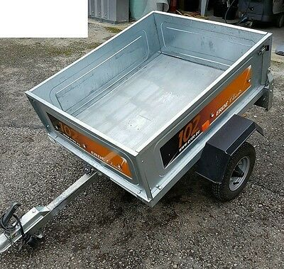 Erde Galvanised Car / Camping Tipping Trailer in Great Condition