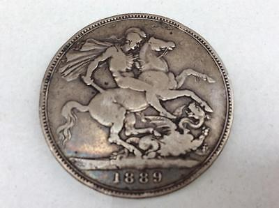 1889 Silver Victorian Crown Coin