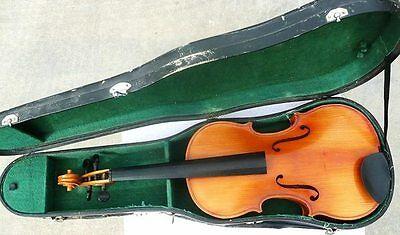Vintage Czech 15 & 1/2 Size Viola with Case - Project for Restoration - VGC
