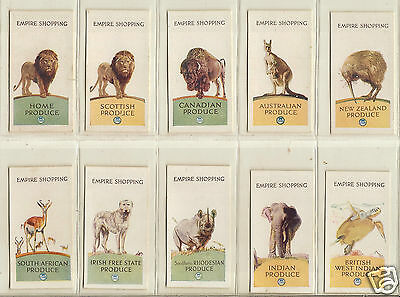 EMPIRE MARKETING BOARD - Empire Shopping - c1925 - Set of 12 Excellent Condition