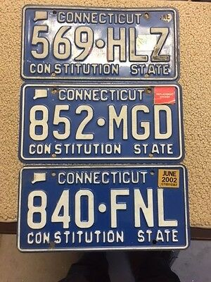 Vintage License Plates- Connecticut -Misc. Lot 3-  Take A Look Nice  P-6