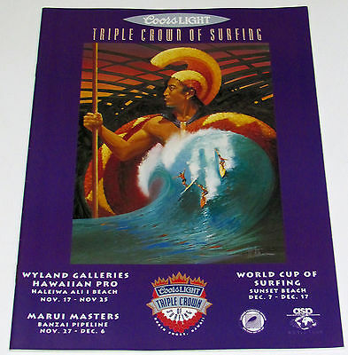 Mint 1992 Triple Crown Surfing Contest Eddie Aikau Ken Auster Program Magazine