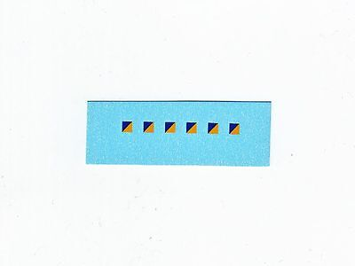 Dinky-Spares | 626 Military Ambulance | 3mm Signs Blue/Yellow | Diagonal Decals