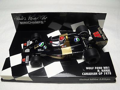 Minichamps 1/43. Wolf-Ford Wr1. B. Rahal. Canadian G.p. 1978