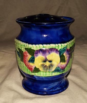 BEAUTIFUL VINTAGE MALING PANSY BOWL WITH FROG,RINGTONS,COLLECTABLE 1930s, VGC.