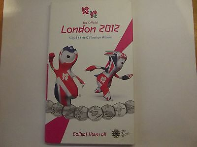 Royal Mint Olynpic Coin Album with 29 x  50p Coins