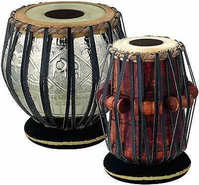 Dorpmarket TABLA Set with Goat Skin Heads: 8 1/2-Inch Bayan, 5 1/2-Inch