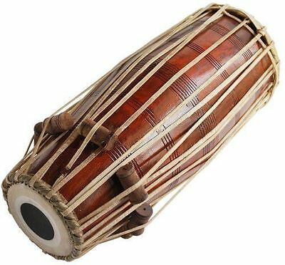Pakhawaj Drum Shesham Wood Professional Quality Hand Made Full Size Soundbrown