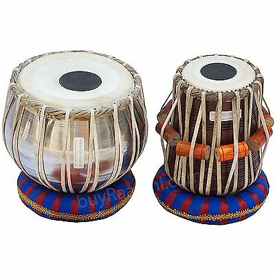 Dorpmarket Tabla Drum Set, Steel Bayan,Finest Dayan with Book,Hammer Cushions