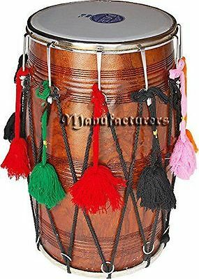 Punjabi-Bhangra-Dhol-Drums-Dark-Sheesham-Wood-Playing-Stick- Dholak Soundbown