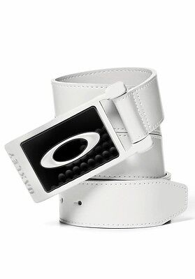 Oakley Ellipse 2.0  Leather Golf Belt and Buckle - BNWT - White / Black Trendy !