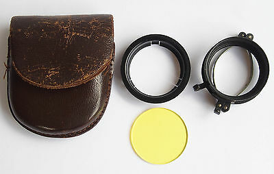 Vintage Clip-On Filter Holder and Yellow Filter