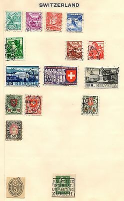Stamps from Switzerland