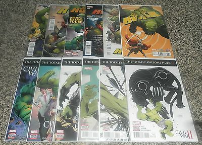 Totally Awesome Hulk 1 2 3 4 5 6 7 8 9 10 11 12 2016 Marvel Comics Lot