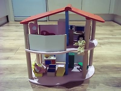 ELC Wooden Dolls House and Furniture