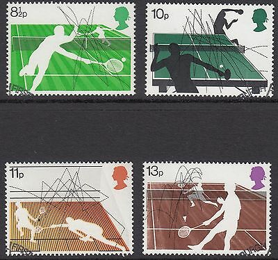 GB Stamps 1977, Racket Sports, Fine used set of 4 from FDC