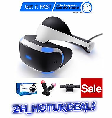 NEW SEALED PS VR Bundle: PSVR + Sony Playstation Camera + Motion Controllers x2