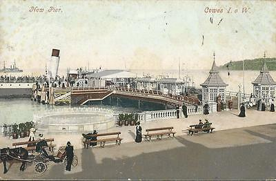 New Pier With Steamer ,cowes 1905