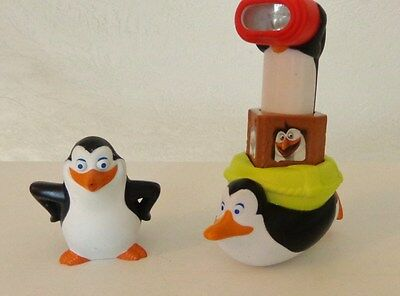 Penguins Of Madagascar Figure Toy Lot 2 Penguins #6 & #44  Periscope McDonalds