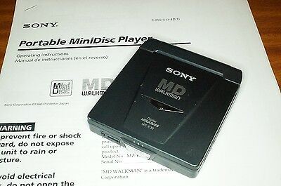 Sony Walkman Mz-E32 Portable Minidisc Player With Lcd Remote / Earphones & Inst